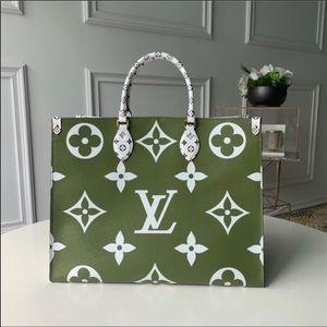 Louis Vuitton ONTHEGO Giant Tote Green White
